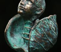 """Foto: """"Kunstwerk in brons van Dorien Alink."""""""